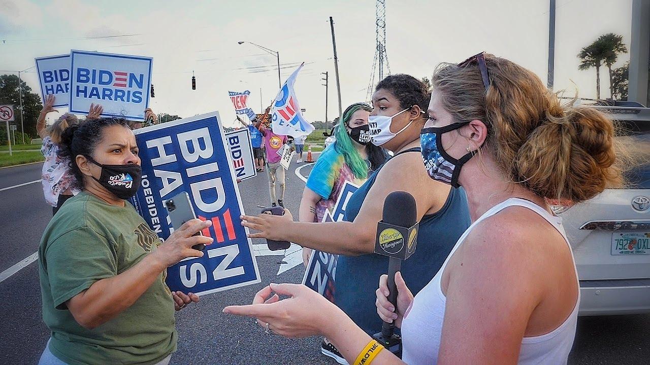 Trump Supporters Crash Biden Rally