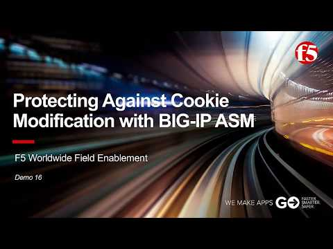 ASM Demo 16: Protecting Against Cookie Modification with F5 BIG-IP ASM