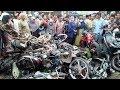 Foto-foto Kengerian Kecelakaan Maut di Bumiayu Brebes Saat Warga Ngabuburit, Bangkai Motor Menumpuk