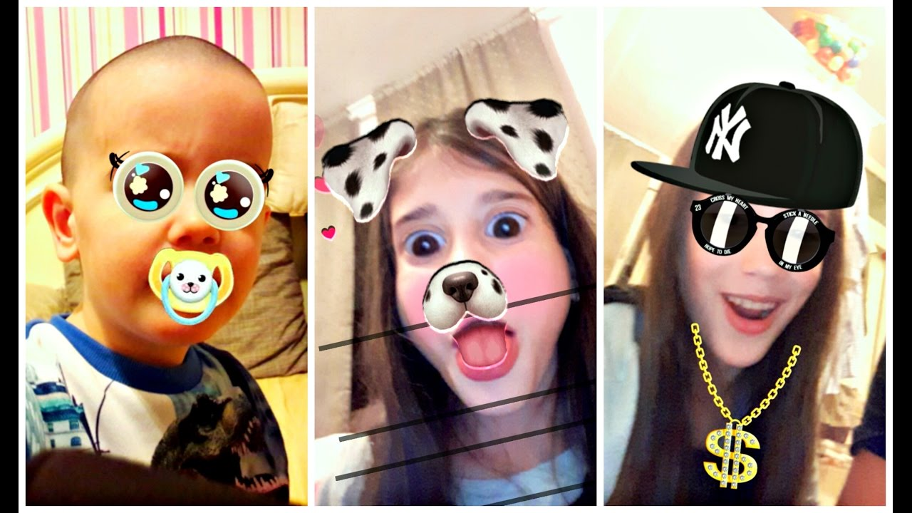 Kids React On Snapchat Filters - Learn Animals for Babies ...