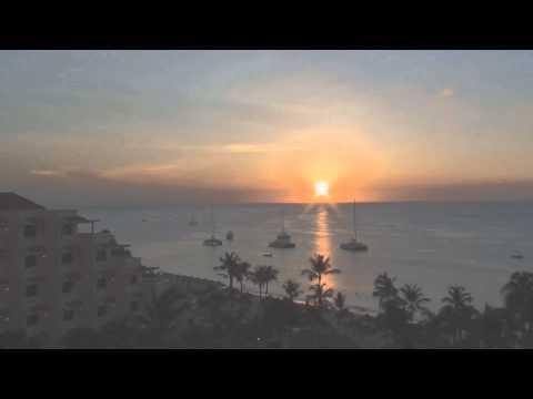 aruba sunset in 10 seconds