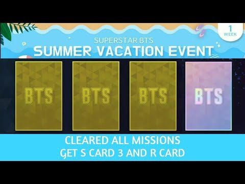 Clearing Summer Vacation Event and Achievement Task Week 1 SUPERSTAR BTS
