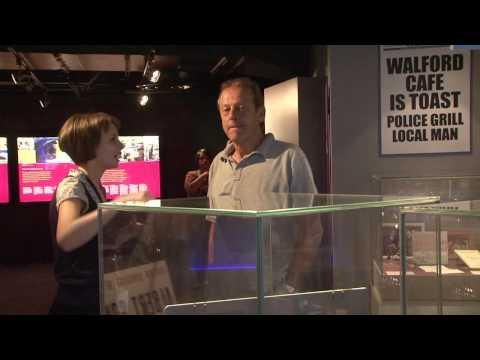 Dirty Den (Leslie Grantham) in TV Heaven at National Media Museum