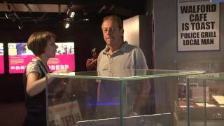 Dirty Den (Leslie Grantham) in TV Heaven at National Media Museum