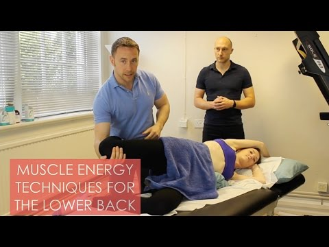 Muscle Energy Technique For The Lower Back - YouTube