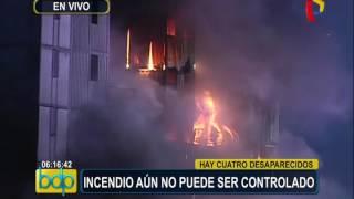 Incendio en Las Malvinas lleva más de 20 horas y aún no logra ser controlado (2/3)