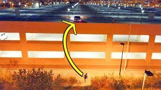 اخطر تحدي | ادخل الكوره بشنطة السياره والسياره فوق السطح !! challenge football Crossbar