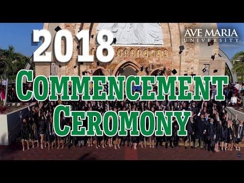 Ave Maria University 2018 Commencement