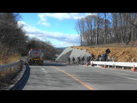 軽井沢スキーバス転落事故から2年 現場付近 2018年1月14日 車載カメラ