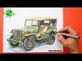 Drawing car Jeep Willys? speed Draw ?Dibujando carrro Jeep Willys