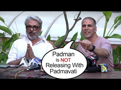 Akshay Kumar Postpones Padman Release To AVOID Clashing With Padmavati On 26/1/2018 -Ranveer.Deepika