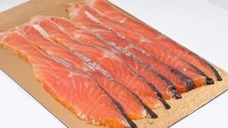 Как быстро и тонко нарезать красную рыбу