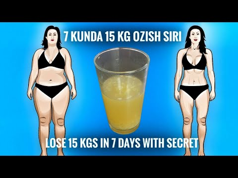 7 kunda 15 kg ozish siri // Lose 15 Kgs in 7 Days with this Secret