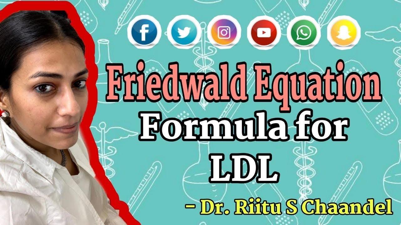 Friedwald Equation Formula For Ldl Youtube