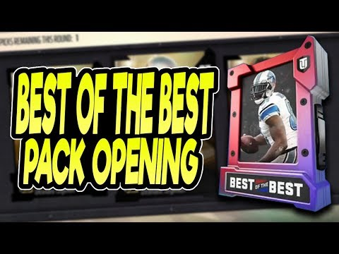 LIMITED TIME PULL! GUARANTEED 96+ OVERALL! BEST OF THE BEST PACK OPENING! LEVEL 40-50 PACKS!| MUT 18