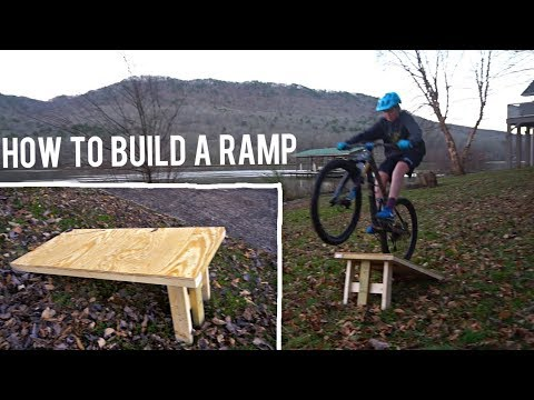 How to Build a Mountain bike Ramp (building with bo)