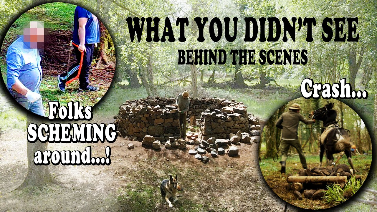 Building a Bushcraft Roundhouse  - WHAT YOU DIDN'T SEE YET...!