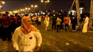 Funny Moments- Qataris spraying with Indians at Qatar National Day 2011
