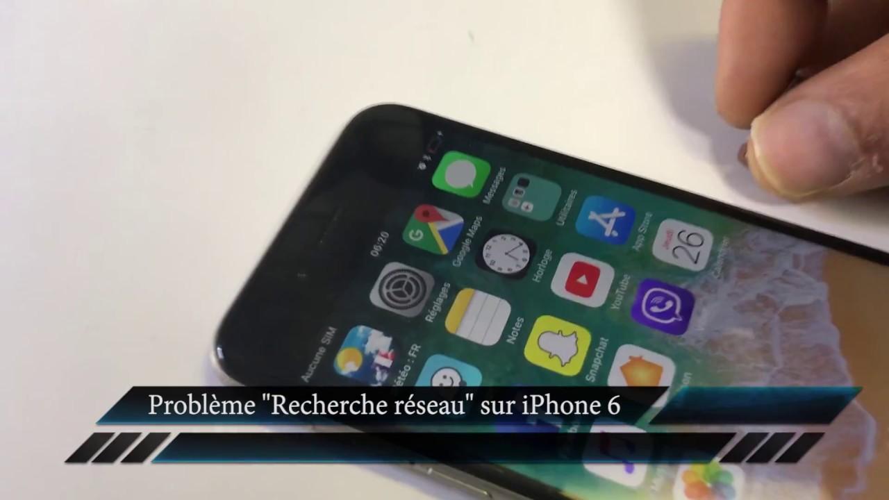 Recherche Réseau Iphone 6