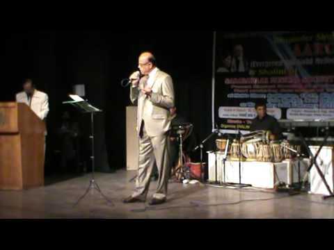 Beraham aasman meri manzil bata hai kahan sung by R.K.Bhatnagar in February 2016 at New Delhi.