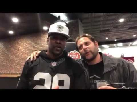 Mike Lowry And Nick The Greek At Oakland Raiders vs KC Chiefs Thursday Night Football Game