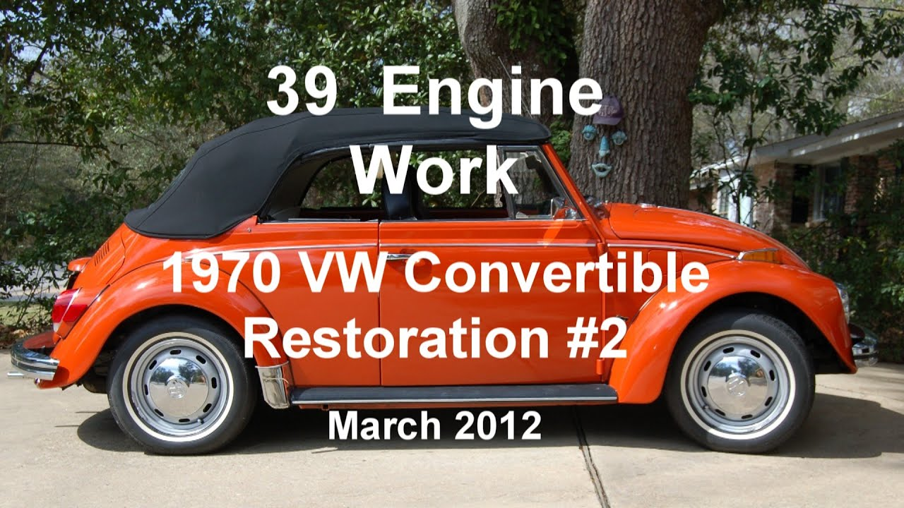 39 of 44 1970 vw beetle engine work 3 6 2012 wmv youtube rh youtube com Six-Cylinder Engine Corvette Passat VR6 Engine