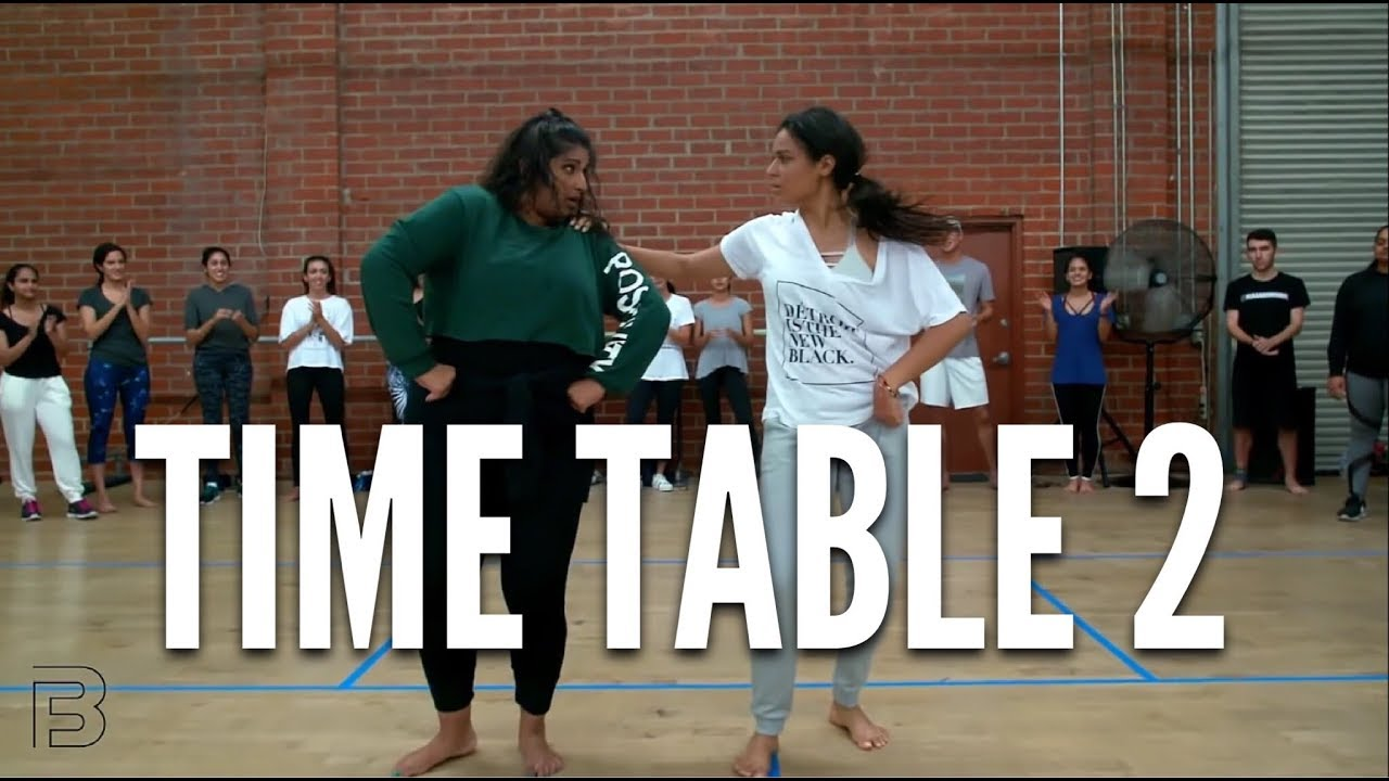 """Time Table 2"" - BHANGRA FUNK Dance | Shivani Bhagwan and Chaya Kumar Choreography #1"