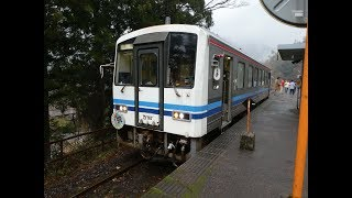 三江線キハ120形 団体列車 石見松原駅発車