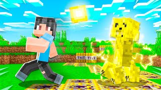 Minecraft But CREEPERS Leave TNT Trail..