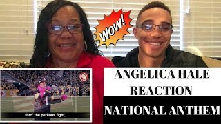 ANGELICA HALE SINGS NATIONAL ANTHEM AT NFL GAME REACTION!! FEATURING MY MOM