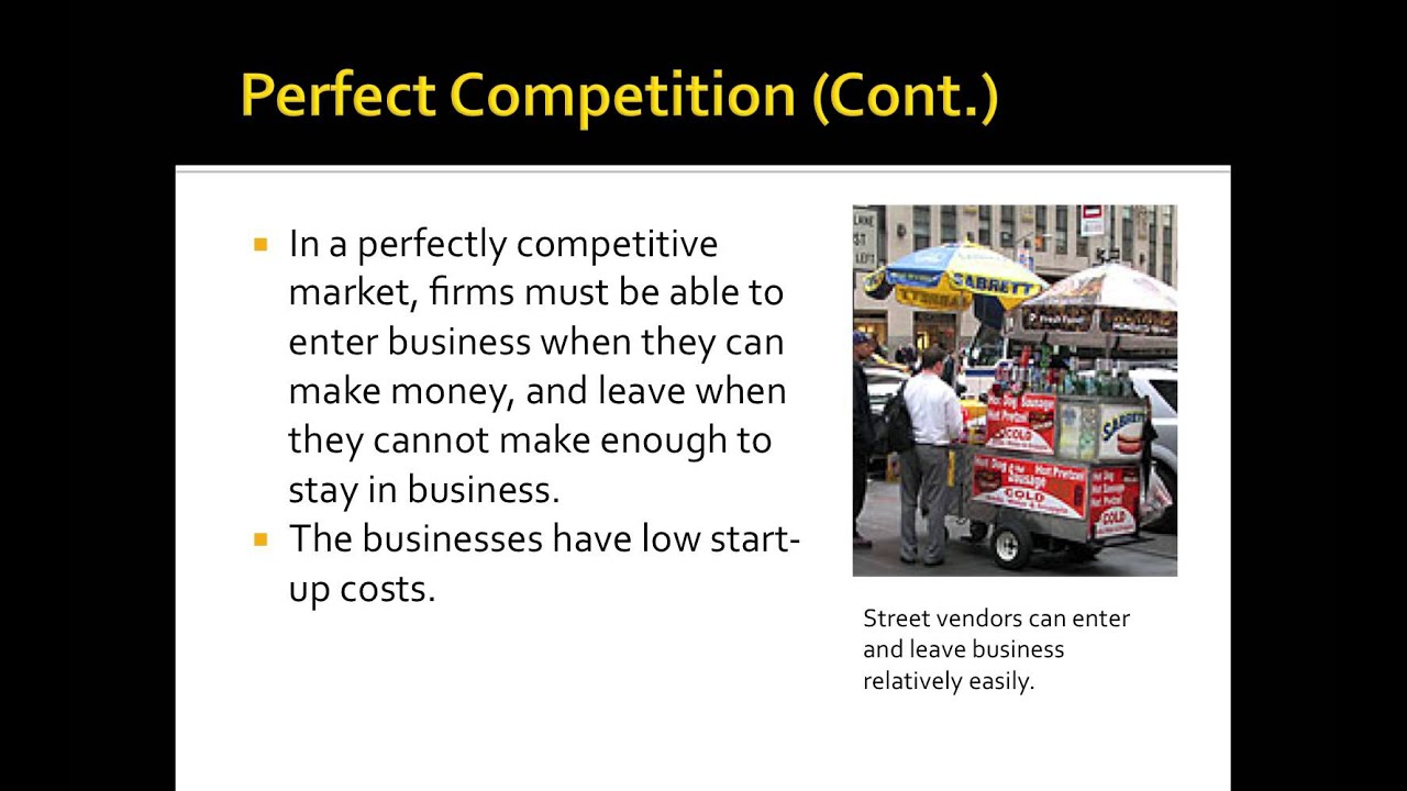Perfect Vs Imperfect Competition Youtube