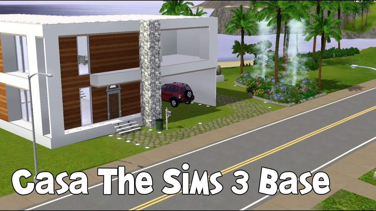 The sims 3 construindo uma casa com a base youtube for Casas modernas sims 4 paso a paso