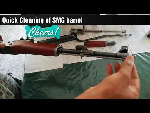 AK-47 or SMG quick barrel cleaning