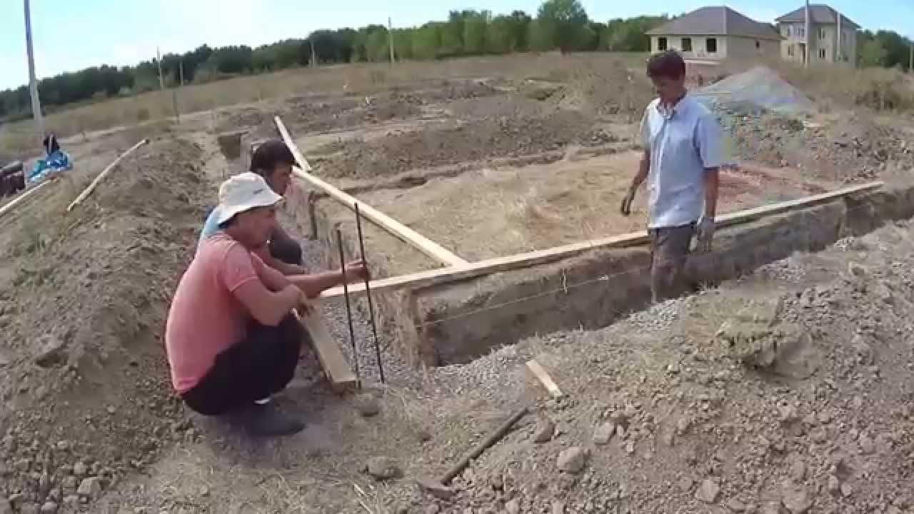 Фундамент 10х12 своими руками