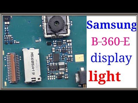 Samsung B360E display light solution,