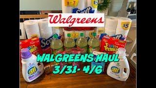 WALGREENS HAUL 3/31 - 4/6 | CHEAP DETERGENT, DIAL, FREE RAZORS & MORE!