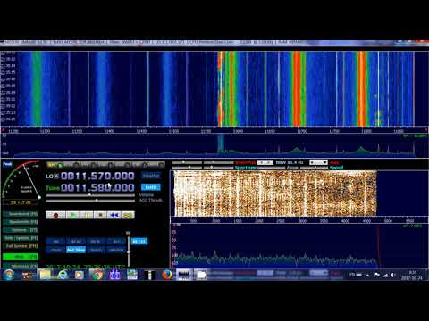 Radio Ukraine via WRMI on 11580 Khz shortwave with afedri SDR