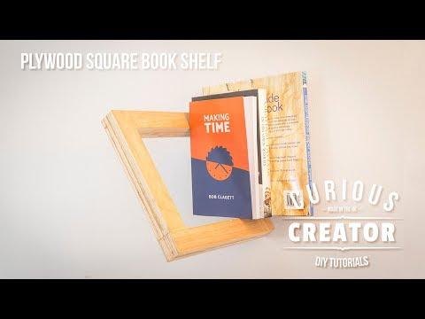#25 Plywood Square Floating Book Shelf - DIY Curious Creator