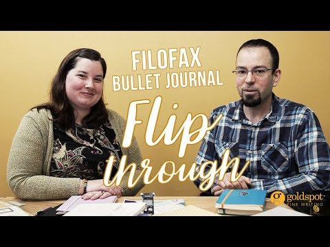 Filofax Bullet Journal Flip Through