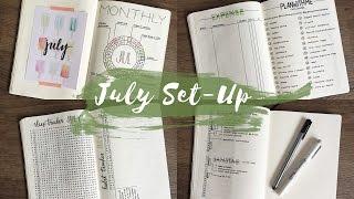 PLAN WITH ME: July 2016 Bullet Journal Setup   journalspiration
