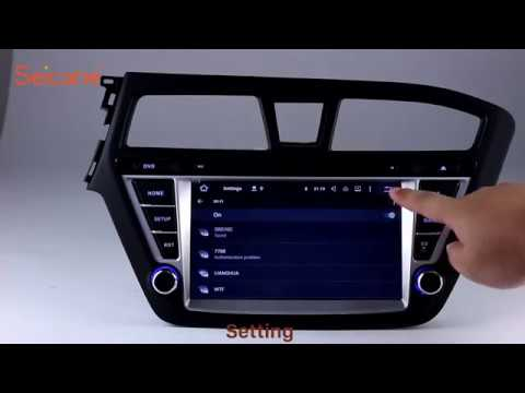 8 inch hd touch screen gps 2014 2015 hyundai i20 navigation radio audio system with usb sd youtube. Black Bedroom Furniture Sets. Home Design Ideas