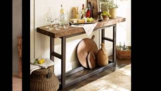 Rustic Style Console Table