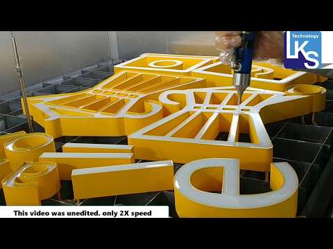 3D epoxy resin channel letter making
