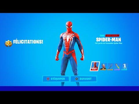 Skin SPIDER-MAN 🕷 Skin GRATUIT aujourd'hui sur Fortnite !! (trailer)