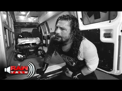 Roman Reigns is assaulted backstage by Braun Strowman: Raw Talk, April 30, 2017 (WWE Network)