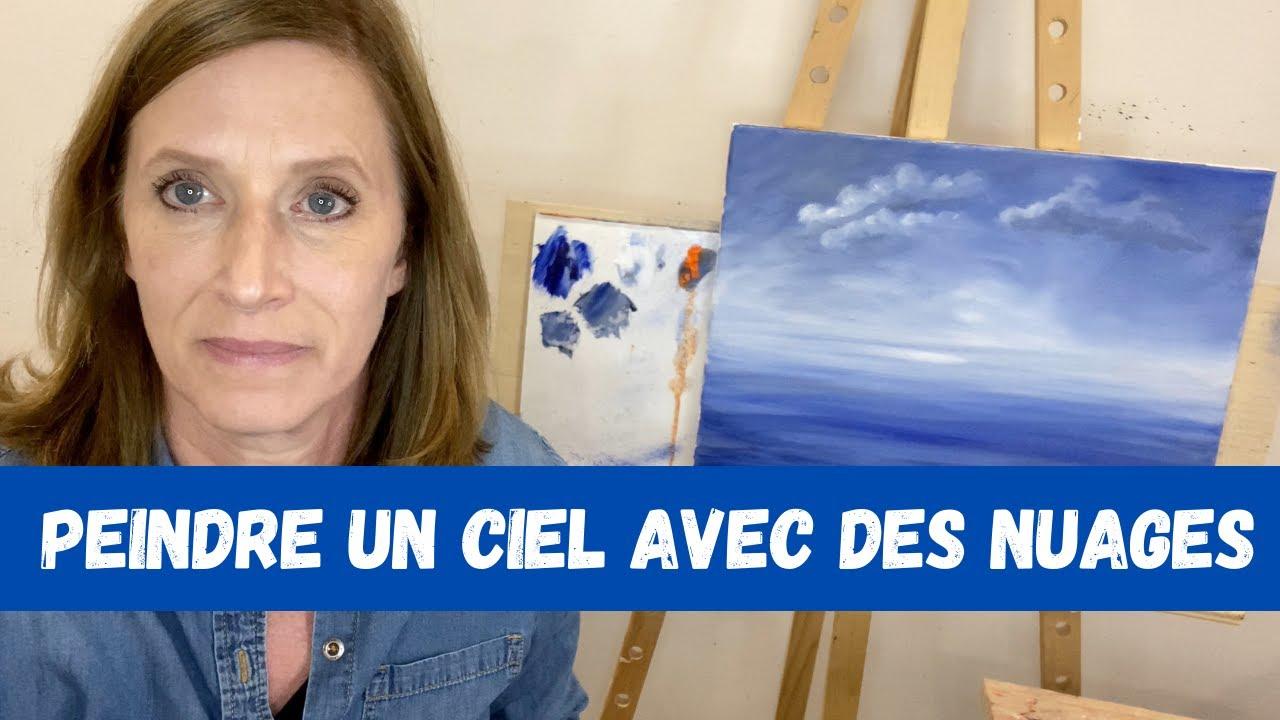 Peindre un ciel d'automne avec des nuages
