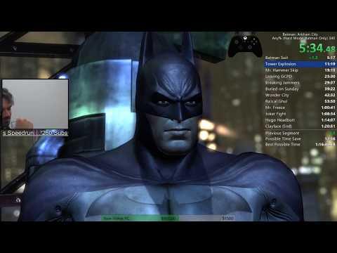 Batman: Arkham City Any% (Hard, No Catwoman) Speedrun PB 1:19:45 RTA (6/27/17)