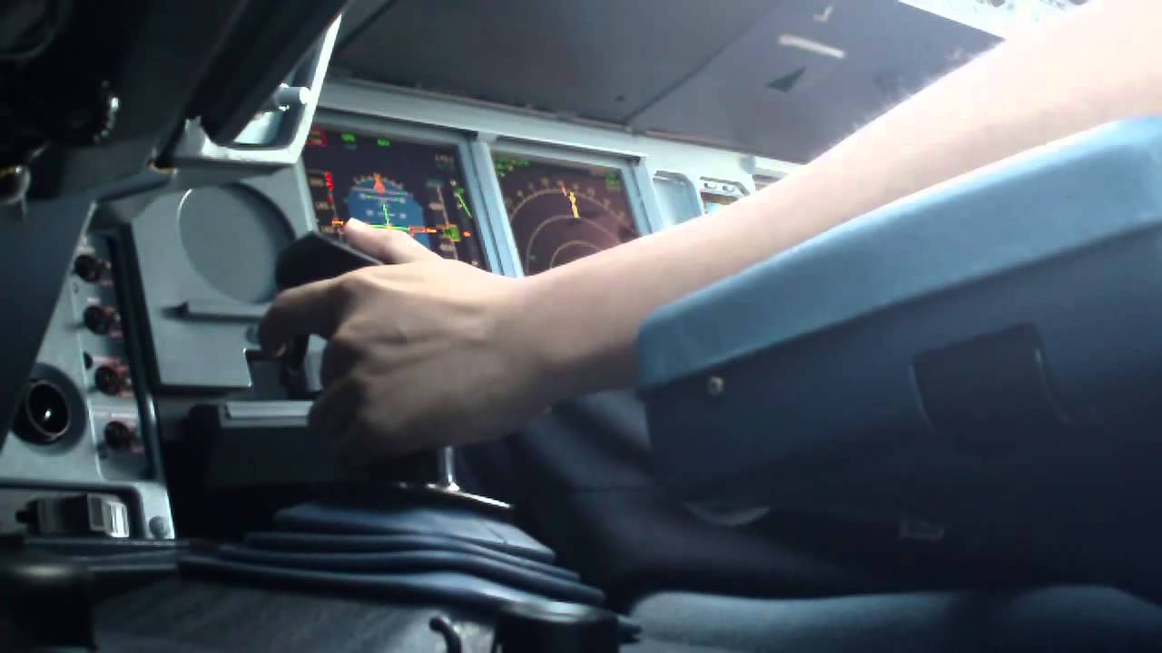 airbus a330 takeoff sidestick view youtube
