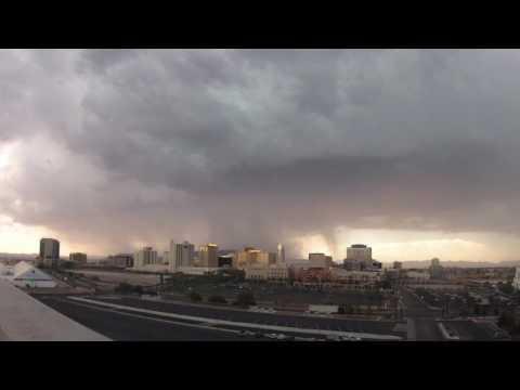 Timelapse thunderstorm moves across Las Vegas valley
