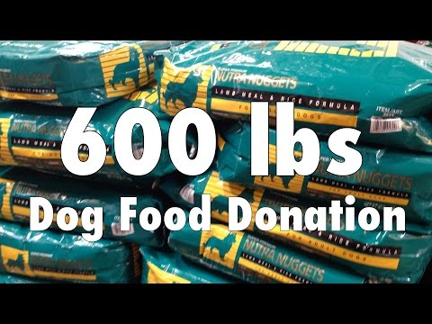 600 lbs Dog Food Donation